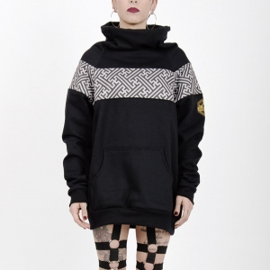 Sudadera original High Neck Sayagata Black and grey