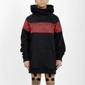 Sudadera original High Neck Sayagata Red and Black