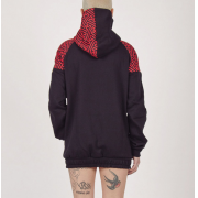 Sudadera Ivernproof Zipper Sayagata Black and red trasera